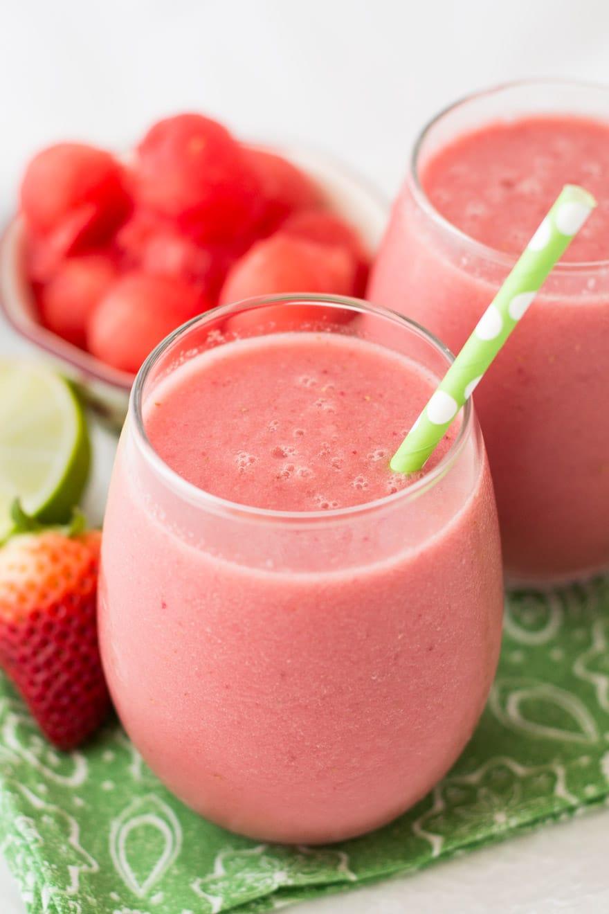 Sweet Watermelon Strawberry Smoothie