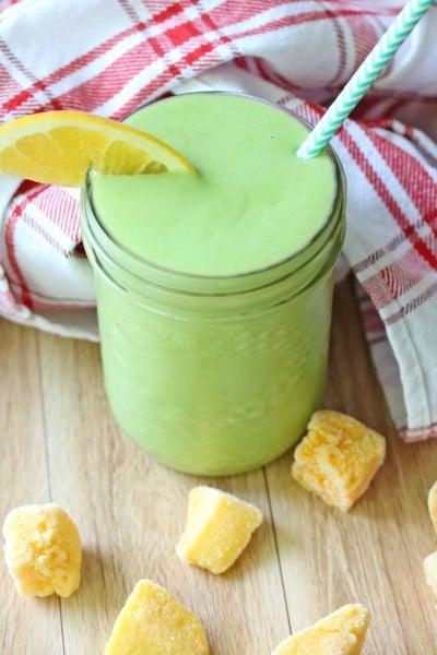 Orange Mango Green Protein Smoothie
