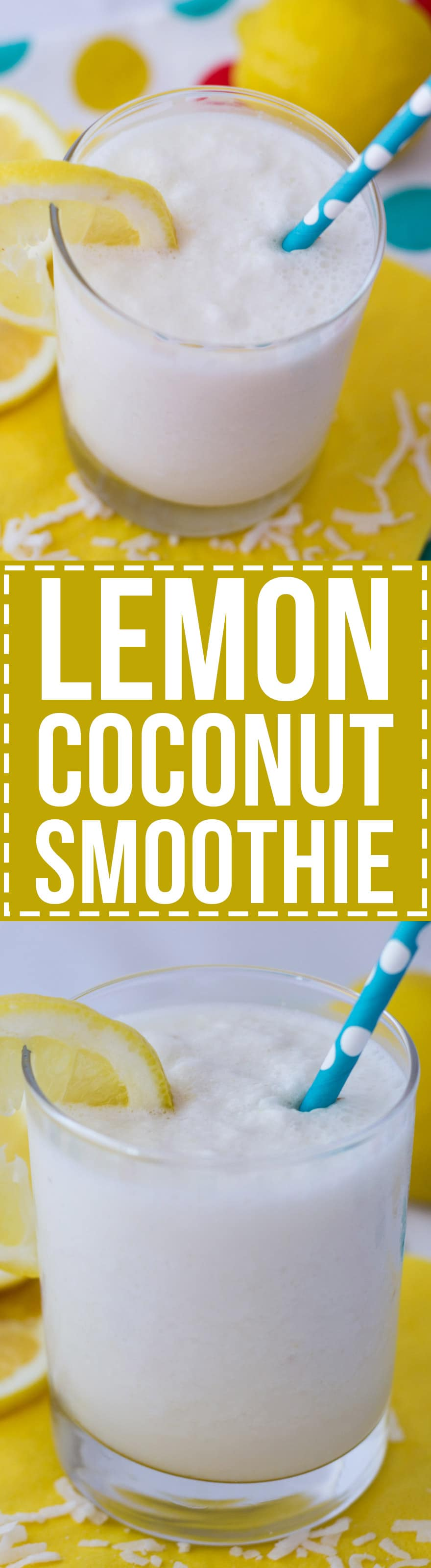 This tart and refreshing Lemon Coconut Smoothie really hits the spot in spring and summer! It's a light, low cal drink that you don't have to feel guilty about.