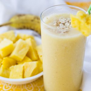 Tropical Breakfast Smoothie with Pineapple and Banana