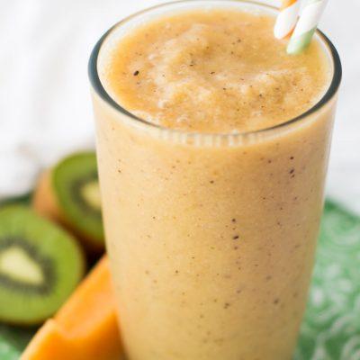 Cantaloupe Kiwi Papaya Smoothie