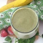 yummy green strawberry banana smoothie
