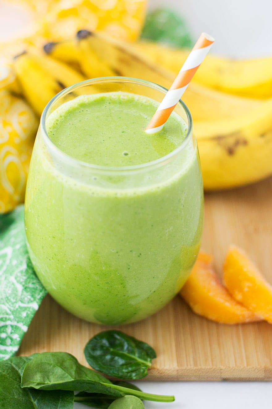 Healthy Peach Spinach Smoothie Recipe