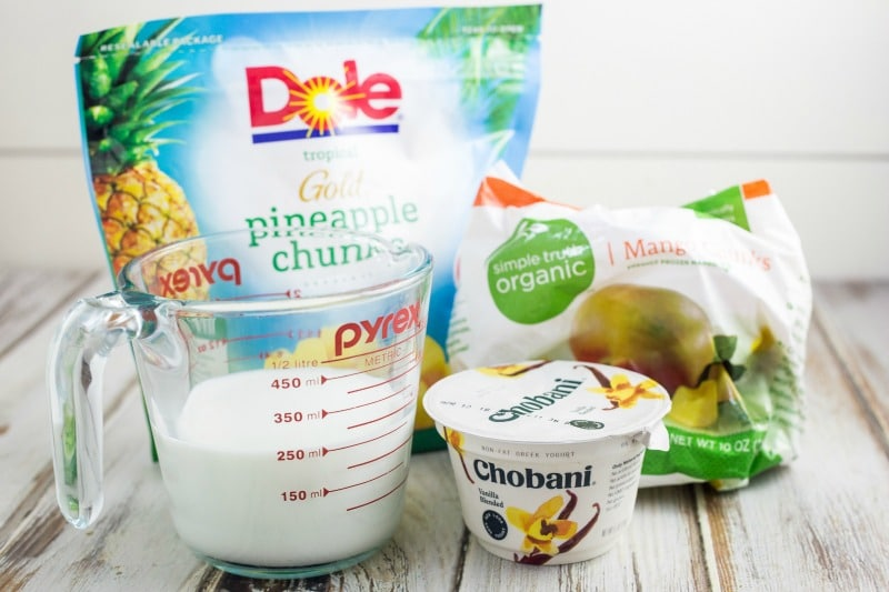 Pineapple Mango Smoothie Bowl Ingredients