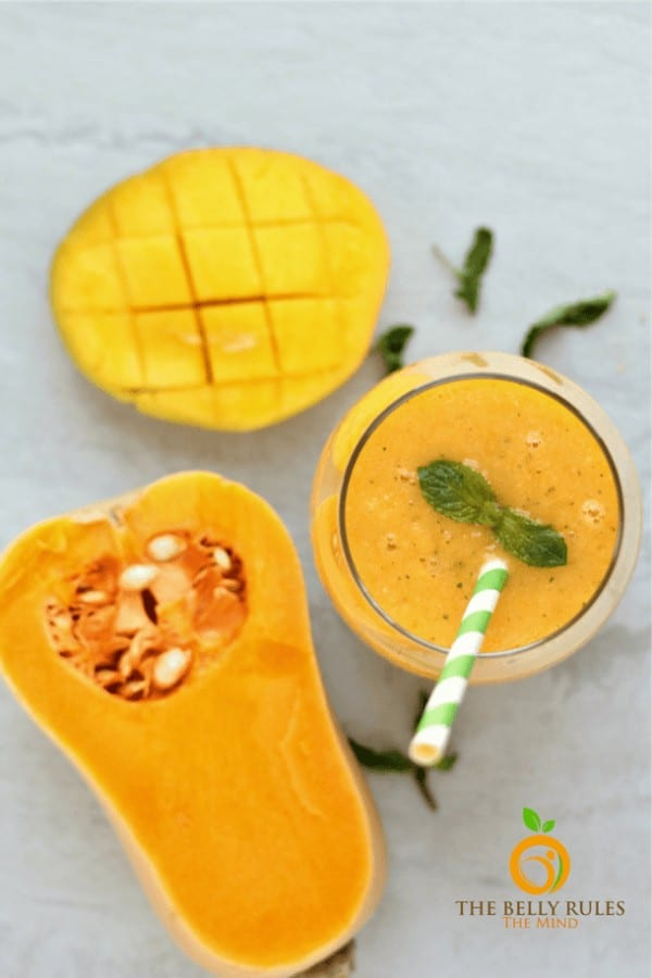 tropical butternut squash smoothie